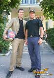 Hermann Maier & Markus Rogan Pressekonferenz - Lusthaus Wien - Mo 06.09.2004 - 1