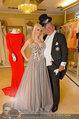 Lugner Ballkleid Anprobe - Modehaus prominent - Di 18.02.2014 - Crazy Cathy SCHMITZ, Richard LUGNER mit Frack5
