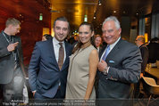 Big Opening - DC Tower 1 Melia Hotel Vienna - Mi 26.02.2014 - Tanja DUHOVIC (schwanger) mit Freund Stergio PRAPAS, Rudi SEMRAD167