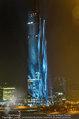 Big Opening - DC Tower 1 Melia Hotel Vienna - Mi 26.02.2014 - DC Tower 1 von au�en bei Nacht, Reichsbr�cke-Blick302