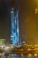 Big Opening - DC Tower 1 Melia Hotel Vienna - Mi 26.02.2014 - DC Tower 1 von au�en bei Nacht, Reichsbr�cke-Blick304