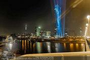 Big Opening - DC Tower 1 Melia Hotel Vienna - Mi 26.02.2014 - DC Tower 1 von au�en bei Nacht, Reichsbr�cke-Blick308