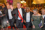 Opernball 2014 - Feststiege - Staatsoper - Do 27.02.2014 - Dominique MEYER, Heinz FISCHER, Kofi ANNAN159