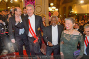 Opernball 2014 - Feststiege - Staatsoper - Do 27.02.2014 - Dominique MEYER, Heinz FISCHER, Kofi ANNAN163