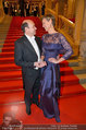 Opernball 2014 - Feststiege - Staatsoper - Do 27.02.2014 - Desiree TREICHL-ST�RGKH, Dominique MEYER27
