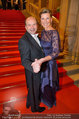 Opernball 2014 - Feststiege - Staatsoper - Do 27.02.2014 - Desiree TREICHL-ST�RGKH, Dominique MEYER33