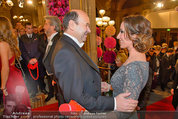 Opernball 2014 - Feststiege - Staatsoper - Do 27.02.2014 - Dominique MEYER, Kati BELLOWITSCH43