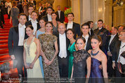 Opernball 2014 - Feststiege - Staatsoper - Do 27.02.2014 - 46
