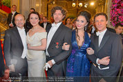 Opernball 2014 - Feststiege - Staatsoper - Do 27.02.2014 - Dominique MEYER, Renato ZANELLA49