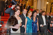 Opernball 2014 - Feststiege - Staatsoper - Do 27.02.2014 - Dominique MEYER, Renato ZANELLA50