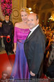 Opernball 2014 - Feststiege - Staatsoper - Do 27.02.2014 - Dominique MEYER, Claudia ST�CKL65