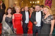 Opernball 2014 - Feststiege - Staatsoper - Do 27.02.2014 - Daniela FALLY, Ramon VARGAS, Dominique MEYER, Ildiko RAIMONDI73