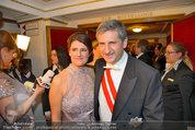 Opernball 2014 - das Fest - Staatsoper - Do 27.02.2014 - Michael SPINDELEGGER mit Ehefrau Margit121