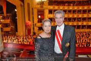 Opernball 2014 - das Fest - Staatsoper - Do 27.02.2014 - Heinz und Margit FISCHER173