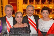 Opernball 2014 - das Fest - Staatsoper - Do 27.02.2014 - Heinz und Margit FISCHER, Werner und Martina FAYMANN187