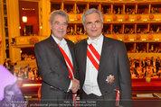 Opernball 2014 - das Fest - Staatsoper - Do 27.02.2014 - Heinz  FISCHER, Werner FAYMANN188