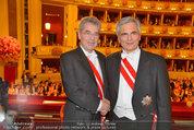Opernball 2014 - das Fest - Staatsoper - Do 27.02.2014 - Heinz  FISCHER, Werner FAYMANN189