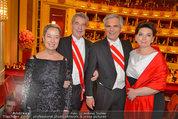 Opernball 2014 - das Fest - Staatsoper - Do 27.02.2014 - Heinz und Margit FISCHER, Werner und Martina FAYMANN190