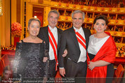Opernball 2014 - das Fest - Staatsoper - Do 27.02.2014 - Heinz und Margit FISCHER, Werner und Martina FAYMANN191