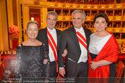 Opernball 2014 - das Fest - Staatsoper - Do 27.02.2014 - Heinz und Margit FISCHER, Werner und Martina FAYMANN192