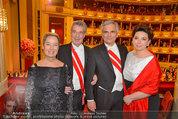 Opernball 2014 - das Fest - Staatsoper - Do 27.02.2014 - Heinz und Margit FISCHER, Werner und Martina FAYMANN193