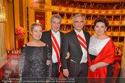 Opernball 2014 - das Fest - Staatsoper - Do 27.02.2014 - Heinz und Margit FISCHER, Werner und Martina FAYMANN194