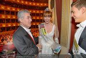 Opernball 2014 - das Fest - Staatsoper - Do 27.02.2014 - Heinz  FISCHER, Ena KADIC, Philipp KNEFZ199
