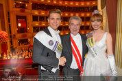 Opernball 2014 - das Fest - Staatsoper - Do 27.02.2014 - Heinz  FISCHER, Ena KADIC, Philipp KNEFZ203
