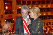 Opernball 2014 - das Fest - Staatsoper - Do 27.02.2014 - Dagmar KOLLER, Heinz FISCHER219