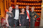 Opernball 2014 - das Fest - Staatsoper - Do 27.02.2014 - Dagmar KOLLER, Heinz und Maria FISCHER, Silvia und Johann LAFER220