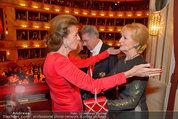 Opernball 2014 - das Fest - Staatsoper - Do 27.02.2014 - Dagmar KOLLER, Heinz und Margit FISCHER, Maya LANGES-SWAROVSKI221