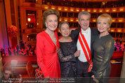 Opernball 2014 - das Fest - Staatsoper - Do 27.02.2014 - Dagmar KOLLER, Heinz und Margit FISCHER, Maya LANGES-SWAROVSKI222