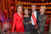 Opernball 2014 - das Fest - Staatsoper - Do 27.02.2014 - Dagmar KOLLER, Heinz und Margit FISCHER, Maya LANGES-SWAROVSKI223