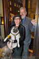 LisaFilm Fasching - FilmCafe - Di 04.03.2014 - Christiane H�RBIGER mit Hund Loriot, Gerhard T�TSCHINGER31