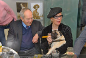 LisaFilm Fasching - FilmCafe - Di 04.03.2014 - Christiane H�RBIGER mit Hund Loriot, Otto SCHENK41