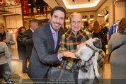 Ferragamo Store Opening - Ferragamo Shop - Mi 12.03.2014 - Christiane H�RBIGER mit Hund Loriot, Clemens UNTERREINER18