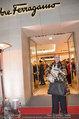 Ferragamo Store Opening - Ferragamo Shop - Mi 12.03.2014 - Christiane H�RBIGER mit Hund Loriot22