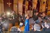 Filmball Vienna - das Fest - Rathaus - Fr 14.03.2014 - Daryl HANNAH umringt von Medien14