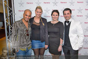 Dinner of Fame - Rainers Hotel Wien - Di 01.04.2014 - Eric PAPILAYA mit Freundin Julie, Steffi, Andreas SEIDL35