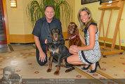 Hundeflüsterer Cesar Millan - Grand Hotel Wien - Do 22.05.2014 - Heinz HANNER mit Hunden, Verena PFL�GER1