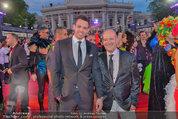 Lifeball Red Carpet (VIP) - Rathaus - Sa 31.05.2014 - Andy LEE-LANG mit Freund85
