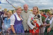 Sonnwendfahrt - Wachau - Sa 21.06.2014 - Erwin PR�LL mit Ehefrau Elisabeth, Christiane H�RBIGER39