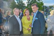 St. Margarethen AIDA Premiere - Römersteinbruch St. Margarethen - Mi 09.07.2014 - Peter HANKE mit Ehefrau, Nils KLINGOHR33