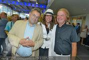 Promi Beachvolleyball KickOff - MegaDenzel Erdberg - Mo 14.07.2014 - Vera RUSSWURM mit Bruder Heinz und Peter HOFBAUER21