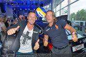 Promi Beachvolleyball KickOff - MegaDenzel Erdberg - Mo 14.07.2014 - Frenkie SCHINKELS, Hans ENN49