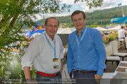 Beachvolleyball VIPs - Centrecourt Klagenfurt - Fr 01.08.2014 - Hans MAHR, Othmar KARAS5