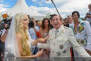Lugner Verlobung - Casino Velden - Fr 01.08.2014 - Richard LUGNER, Spatzi Cathy SCHMITZ102