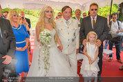 Lugner Verlobung - Casino Velden - Fr 01.08.2014 - Richard LUGNER, Spatzi Cathy SCHMITZ mit Tochter Leonie57