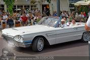 Lugner Verlobung - Casino Velden - Fr 01.08.2014 - Ankunft Richard LUGNER mit Thunderbird Cabrio6