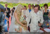 Lugner Verlobung - Casino Velden - Fr 01.08.2014 - Richard LUGNER, Spatzi Cathy SCHMITZ mit Tochter Leonie67